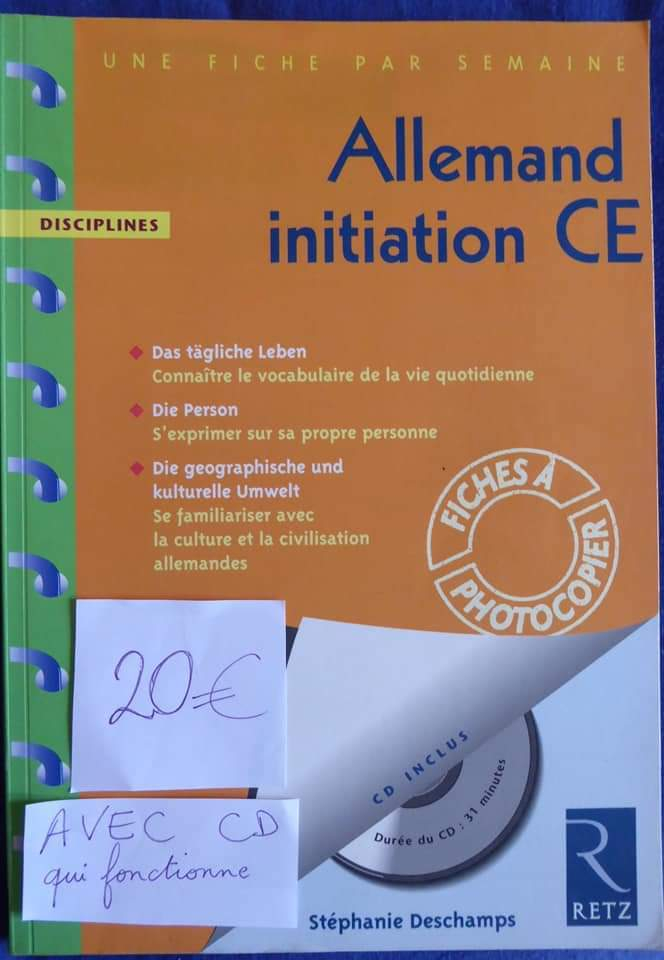 Allemand initiation CE 35 fiches photocopiables