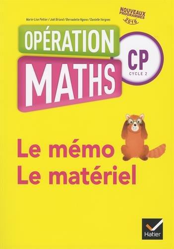 Opération Maths CP Le Mémo et Le Matériel