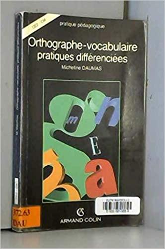 Orthographe, vocabulaire